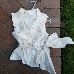 Rafael Cennamo ruffle vest 100% silk